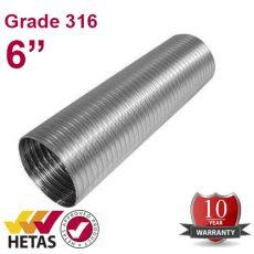 """6"""" Grade 316 Flue Liner"""