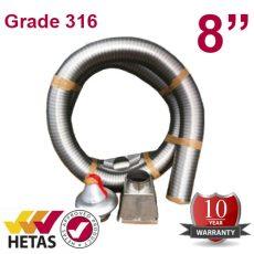 """8"""" Grade 316 Chimney Kit"""