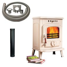 Ivory Elite Stove with Installation Kit