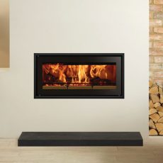 Stovax RStudio 2 Edge + inset wood burning fire
